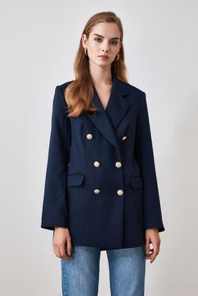 TRENDYOLMİLLA Lacivert Düğme Detaylı Blazer Ceket TWOSS20CE0024 3