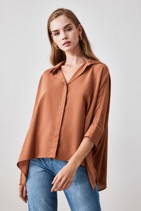 TRENDYOLMİLLA Camel Oversize Gömlek TWOSS20GO0200 1
