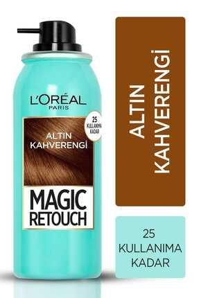 L'Oreal Paris Beyaz Saçlar Için Kapatıcı Altın Kahve Saç Spreyi -magic Retouch 10 Chatain Dore 75 Ml 0