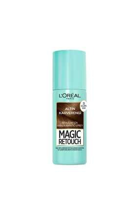 L'Oreal Paris Beyaz Saçlar Için Kapatıcı Altın Kahve Saç Spreyi -magic Retouch 10 Chatain Dore 75 Ml 2