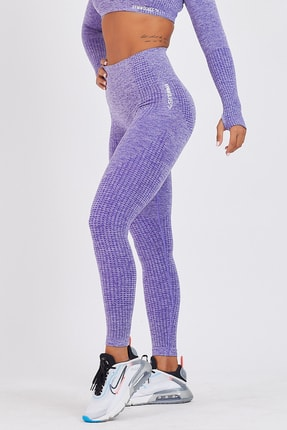 Gymwolves Dikişsiz Spor Tayt | Purble | Seamles Leggings | Activated Serisi 0