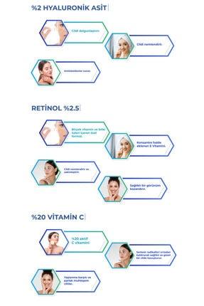 Carino E Bella C Vitamini %20 + Hyaluronic Acid %2 + Retinol %2.5 Yüz Bakım Serumu 3'lü Set 30ml 2