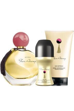 Avon Far Away Kadın Parfüm Rollon Ve Vücut Losyınu Seti 0