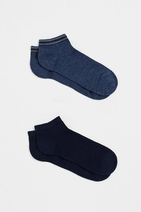 Mavi İkili Paket Lacivert Çorap 0