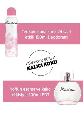 Emotion Deodorant Seti Love Edt 50 ml Kadın Parfüm 150 ml 2