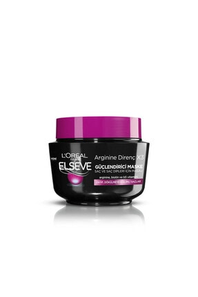 Elseve L'oréal Paris Arginine Direnç X3 Dökülme Karşıtı Maske 300 ml 0