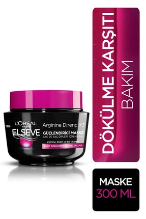 Elseve L'oréal Paris Arginine Direnç X3 Dökülme Karşıtı Maske 300 ml 1
