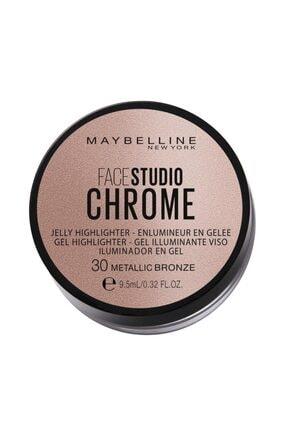 Maybelline New York Face Studıo Chrome Jel Aydınlatıcı No: 30 Metallic Bronze Delist 0