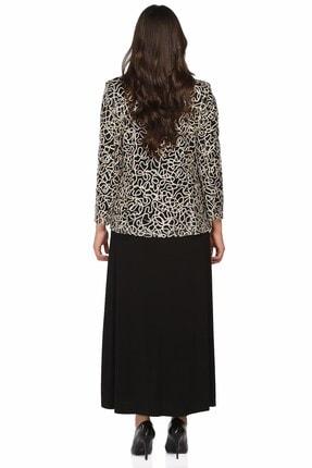 Ladies First Büyük Beden 2933 Siyah Elbiseli Takım 1