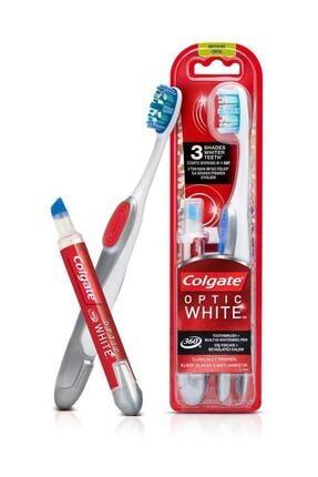 Colgate 360 Optik Beyaz Diş Fırçası ve Beyazlatıcı Diş Kalemi 0