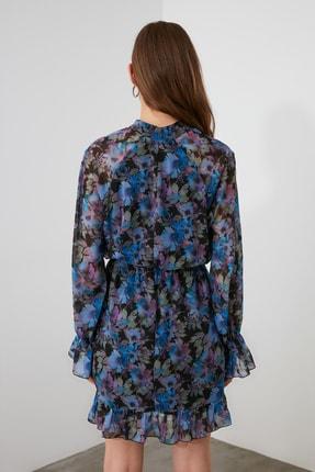 TRENDYOLMİLLA Çok Renkli Desenli Fular Yaka Elbise TWOAW21EL1664 3