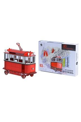Pershang Ahşap Nostaljik Taksim Tramvay 3 Boyutlu Yapboz 1