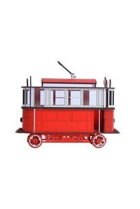 Pershang Ahşap Nostaljik Taksim Tramvay 3 Boyutlu Yapboz 4