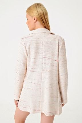 Trend Alaçatı Stili Kadın Pudra Kırçıllı Tweet Ceket ALC-251-146 3