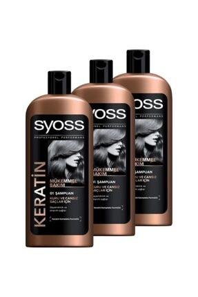 Syoss Keratın Mükemmelliği Şampuan 550 ml 3 Adet 0