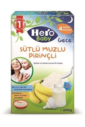 Hero Baby 200gr Gece Sütlü Muzlu Pirinçli 2 Li Set Kaşık Maması 1
