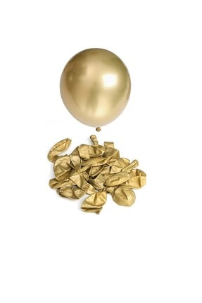 Partifabrik Zincir Balon Gold Krem Pembe Renk 1 Metre 1