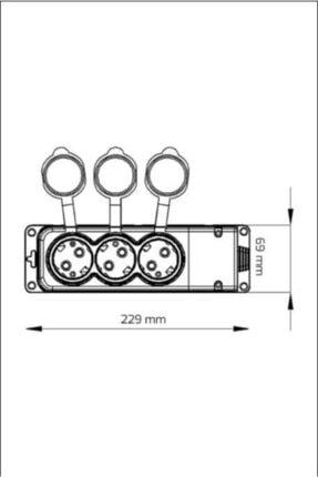 Bylion Seyyar Uzatma Kablosu 3'lü Grup Priz 3x2,5 Mm 30 Metre Siyah Renk 3