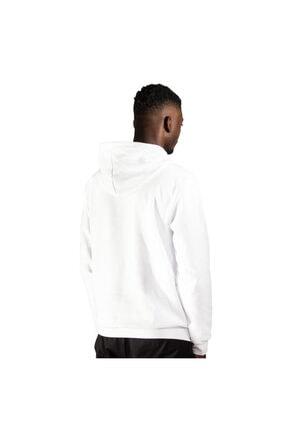 iba tekstil Erkek Beyaz Kapşonlu Baskılı Sweatshirt 2