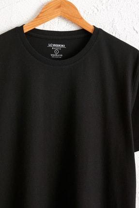 LC Waikiki Erkek Yeni Siyah Tişört 0W6609Z8 2