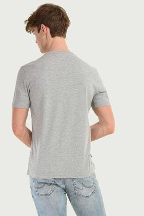 Ucla STANTON Gri Bisiklet Yaka Erkek T-shirt 3