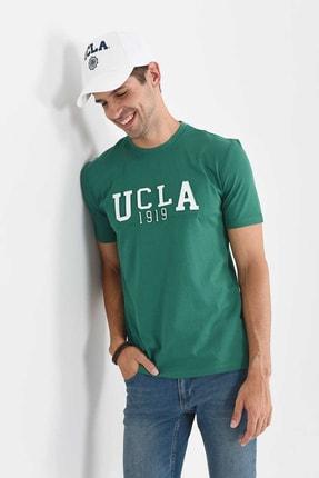Ucla CABAZON Yeşil Bisiklet Yaka Baskılı Erkek Tshirt 2