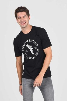 Ucla ADELANTO Siyah Bisiklet Yaka Baskılı Erkek Tshirt 2