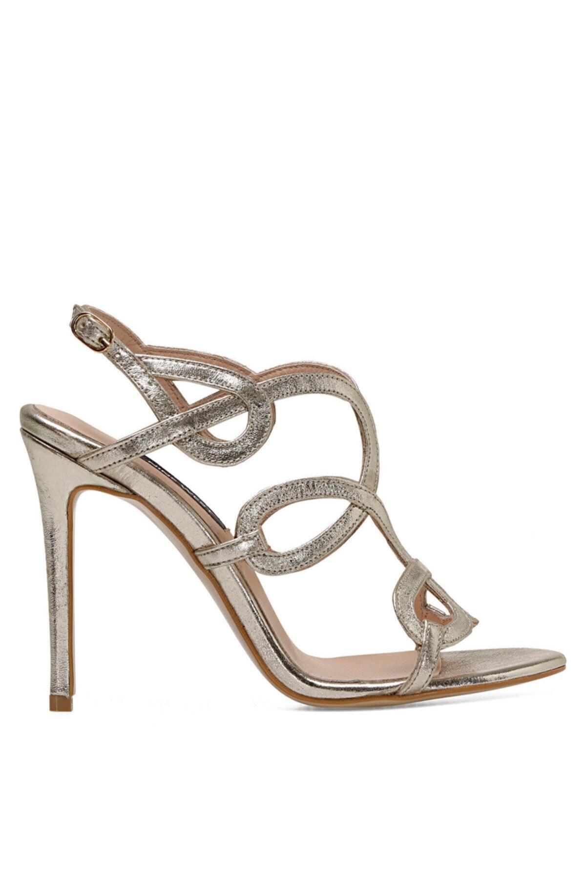 TONA Altın Kadın Topuklu Sandalet 100526674