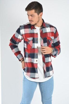 Terapi Men Erkek Kareli Oduncu Gömleği 20k-4300549 Kırmızı 1