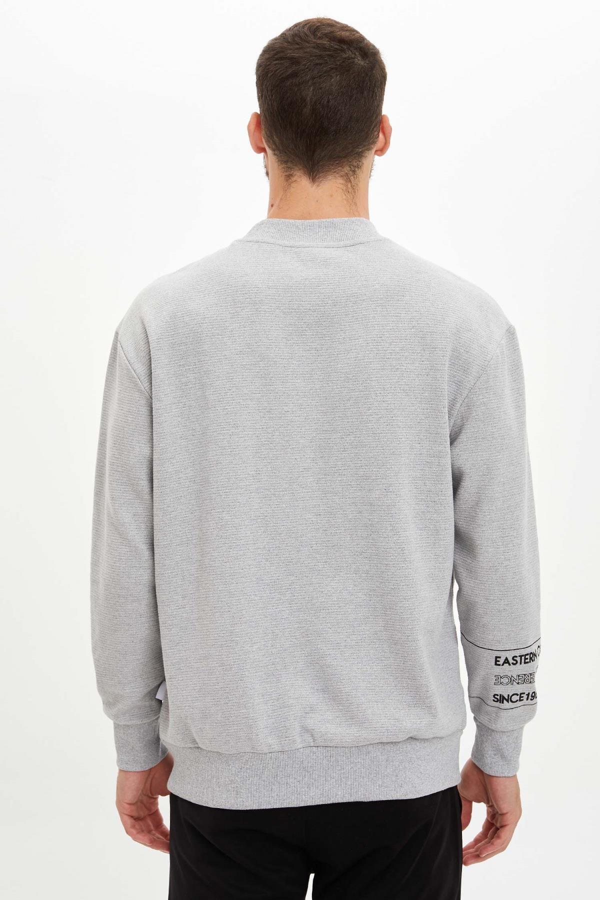Defacto Unisex Gri Nba Lisanslı Oversize Fit Sweatshirt 3