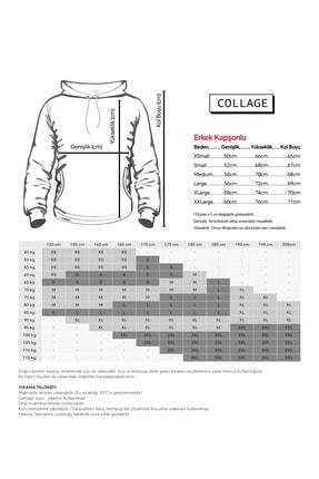 Collage Free Rick Baskılı Beyaz Erkek Örme Kapşonlu Sweatshirt Uzun Kol 1
