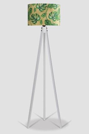 MyLightConcept Dekoratif Özel Tasarım Dijital Baskılı Yeni Trend Kumaş Lambader Beyaz Ayak/mlc095 1