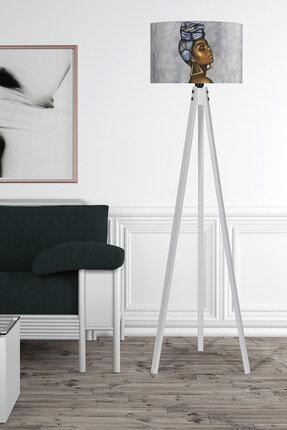 MyLightConcept Dekoratif Özel Tasarım Dijital Baskılı Yeni Trend Kumaş Lambader Beyaz Ayak/mlc060 0
