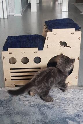 Taktakicat Konforlu Katlı Kedi Evi - Kedi Yuvası 0