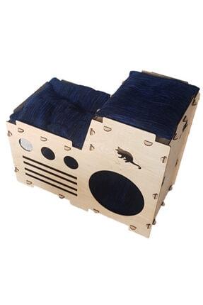 Taktakicat Konforlu Katlı Kedi Evi - Kedi Yuvası 1