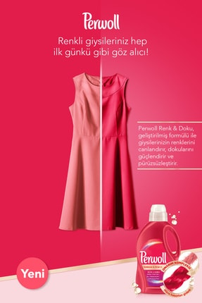 Perwoll Hassas Bakım Sıvı Çamaşır Deterjanı, Siyah+Renkli+Bakım Onarım+Beyaz 3L 4'lü Set 3