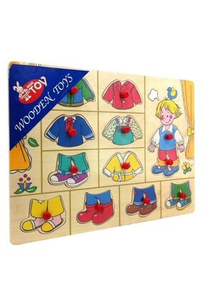 Wooden Toys Ahşap Kıyafet Giydirme Yapboz Puzzle Pazıl 1
