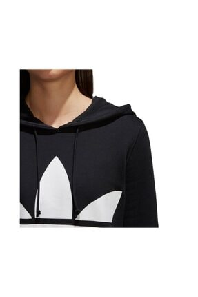 adidas Kadın Siyah Ce2408 Trefoıl Hoodıe Sweatshirt 3
