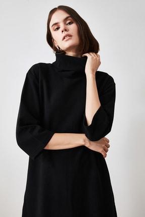TRENDYOLMİLLA Siyah Selanik Örme Elbise TWOAW20EL1110 2