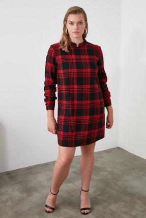 TRENDYOLMİLLA Kırmızı Ekoseli Elbise TWOAW21EL1164 3