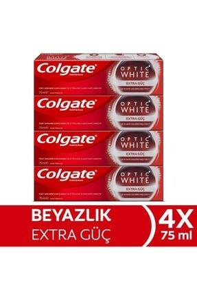 Colgate Optik Beyaz Extra Güç Beyazlatıcı Diş Macunu 75 Ml X 4 Adet 0
