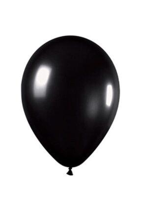 araget Metalik Latex Balon Siyah Renk 10 Adet 0