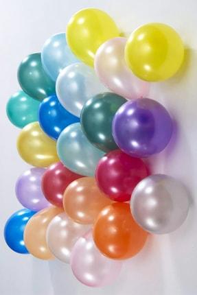 araget Metalik Latex Balon Siyah Renk 10 Adet 1