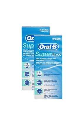 Oral-B Super Floss Diş İpi 50 Adet x 2 1
