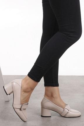 Mio Gusto Romy Krem Renk Topuklu Ayakkabı 2