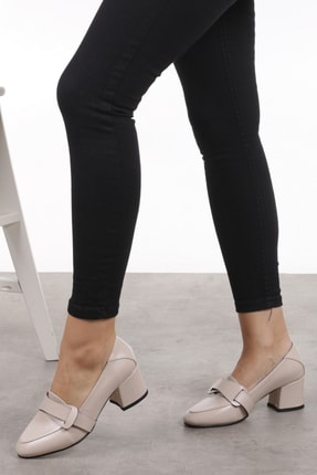 Mio Gusto Romy Krem Renk Topuklu Ayakkabı 3