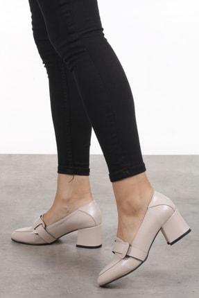 Mio Gusto Romy Krem Renk Topuklu Ayakkabı 4