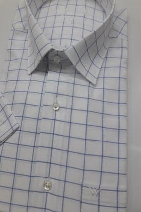 ASWEL Erkek Beyaz Kısa Kollu Cepli Gömlek 0