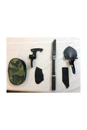 evasist Katlanabilir Metal Kürek Balta Bıçak Çapa Testere Kamp Seti (tek Saplı) Multitools 2