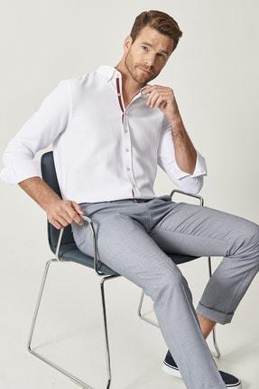 Altınyıldız Classics Erkek Mavi Slim Fit Desenli Pantolon 0